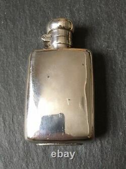 Small Antique 1887 Victorian Solid Sterling Silver Spirit / Hip Flask 50g