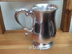 Solid Silver Tankard Pint Mug Par Henry Holland 1866 Victorian 925 Sterling 458g