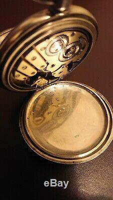 Solide 935 Argent Sterling Quarter Répéteur Pocket Watch