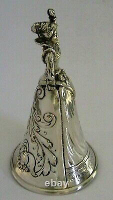 Stunning Hanau Allemand Solide Silver Table Desquet Recéption Bell C1890 110g Antique