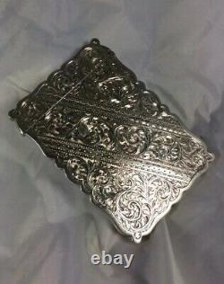 Stupéfiant Hm Hm Silver George V J & W. F Deakin Calling Card Case 1924