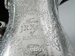 Super Quality Antique Silver Cream Jug, Londres 1866, Edward Et John Barnard