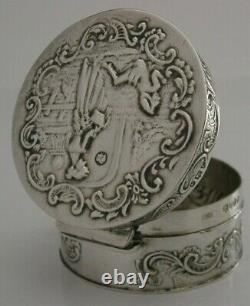 Superbe Antique Dutch Solid Sterling Silver Box London Import 1892 Victorian