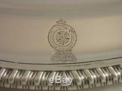 Superbe Assiette À Viande En Argent Victorienne De 1840, Royal Lancashire Regt 3256 Grammes