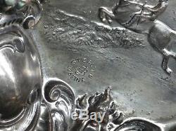 Superbe Bol Équestre Antique Victorien Unger Brothers En Argent Sterling