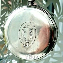 Superbe Montre De Poche Fusée Chronographe Victorienne En Argent Massif 1884/5
