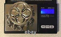 Superbe Rare C1873 Victorian Solid Silver Châtelaine George Unite 80g Collectible