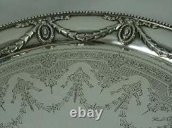 Superbe Salver D'argent Victorien, 1883, 1273gm Famille Barnard