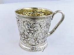Superbe Tasse Victorian Silver Childs, Londres 1853, Coupe De Baptême Hunt & Roskell