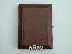 Superbe Victorienne Boxed Robert Thornton 1869 Solide Carte En Argent Sterling Cas