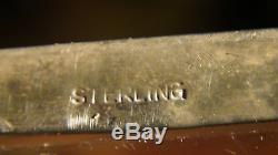 Superposition De Collier En Argent Sterling D'époque Victorienne Avec Carafe En Verre Taillé À L'eau-forte