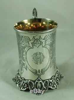 Tasse Victorienne D'argent Christening Joseph Angell I Londres 1851 230g Bdzx