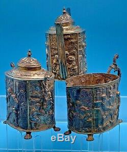 Tea Antique Argent Sterling Set De 1000 Grammes Vers 1927