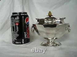 Thé Caddy Victorian Sterling Argent Londres 1899