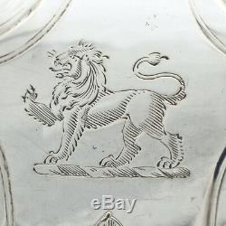 Théière Antique En Argent Massif Benjamin Preston Vers 1844