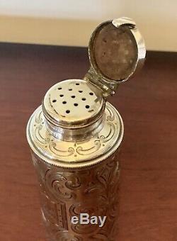 Tiffany & Co Sterling Bouteille Argent Parfum Shaker Victorienne Antique Nouveau