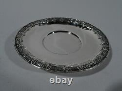 Tiffany Sauce Bowl Plate Stand 8174 Antique American Sterling Silver