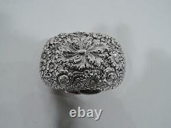 Tiffany Soap Box 3026 Antique Victorian Vanity American Sterling Argent