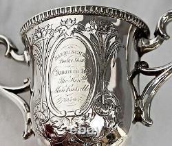 Trophée Victorien En Argent Sterling. Prix Du Spectacle De La Volaille De Birmingham 1856
