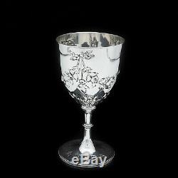 Un Magnifique Victorienne En Argent Massif Verre À Vin / Coupe Richards & Brown 1869