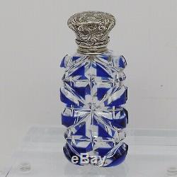 Une Belle Bouteille De Parfum Haut À Charnière En Argent Sterling Victorienne, Pièce Magnifique