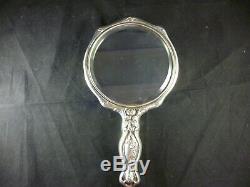 Unger Bros Argent Massif Vanity Miroir Victorien Neuf Antique