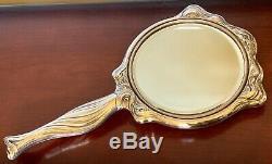 Unger Bros Lady Argent Massif Vanity Miroir Victorien Nouveau Antique