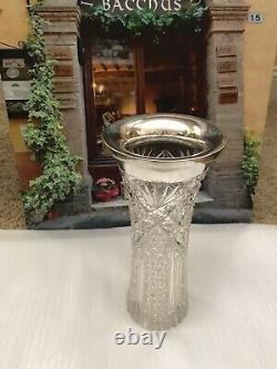 Vase D'argent Sterling Cristal Antique