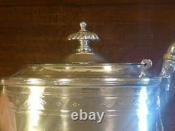 Vgc Boxed Hallmarked 1880 Heavy 540gms Solid Silver Bachelor 3 Pièce Tea Set