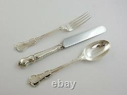 Victorian 18 Personnes Service Silver Canteen De Princess Cutlery Set, Londres 1898