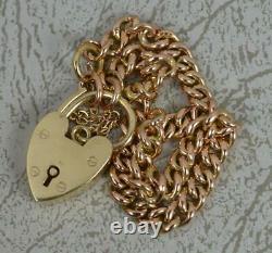Victorian 9ct Rose Or Curb Lien Pocket Watch Chaîne 7 Bracelet Long