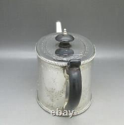 Victorian Beautiful Solid Sterling Silver Breakfast Teapot R. Harper, Londres 1873