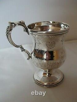 Victorian Child's Christening Mug Sterling Argent Birmingham 1876