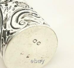Victorian Petite Bouteille De Parfum En Argent Sterling 1896