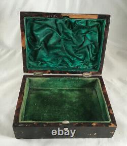 Victorian Silver & Faux Tortoiseshell Jewellery Box Cornelius Chester 1894 Aezx
