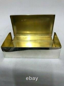 Victorian Silver Sandwich Box Londres 1896 Par W & G Neal