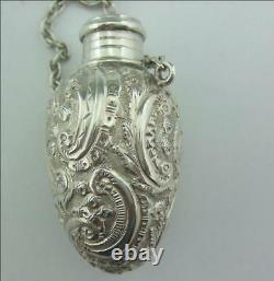 Victorian Solid Silver Perfume Bottle George Unite En 1889