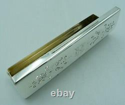 Victorian Solid Silver Pierced Box 153g Mappin & Webb With Gilt Interior