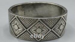 Victorian Solid Sterling Silver Large Bangle 1882 Birmingham Bhj Et Co 34g