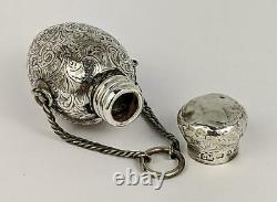 Victorian Sterling Silver Chatalaine Parfum Bouteille 1887