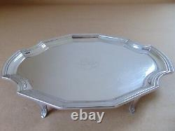 Victorian Sterling Silver Crest Teapot Stand Londres 1897