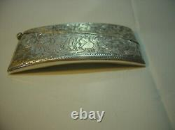Victorian Study Artisanat Solid Silver Buisness Card Holder-rare-1904