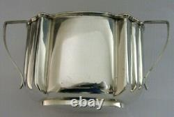 Victorien Anglais Solide Sterling Silver Sugar Bowl Heavy 122g Antique 1897