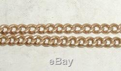 Victorienne 15ct Solid Gold Double Albert Pocketwatch Chaîne Lourde 29,1 G