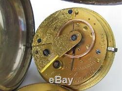 Victorienne (1875) Argent Massif Johnson Ground (wigan) Fusée Pocket Watch Travail