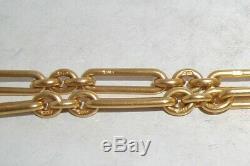 Victorienne 18ct Solid Gold Double Albert Pocketwatch Chaîne Lourde 50.5g