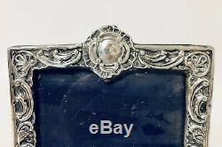 Victorienne Antique Sterling Silver Cadre Photo Poinçonnés 1898 Birmingham