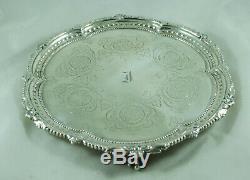 Victorienne Argent Salver Martin Hall & Co London 1875 20.2cm 327g Ahzx001