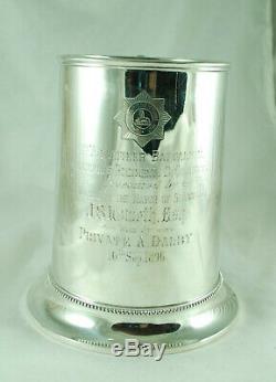 Victorienne Argent Tasse Pintes Elkington Birmingham 1868 Lincolnshire Regiment 438g