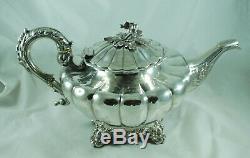 Victorienne Argent Teapot Francis David Dexter Londres 1848 810g Dabzx